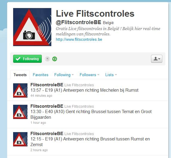 live flitscontroles