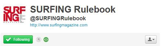 top25 tweets surfing rulebook