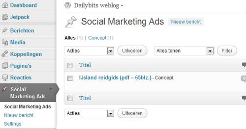 social marketing ads