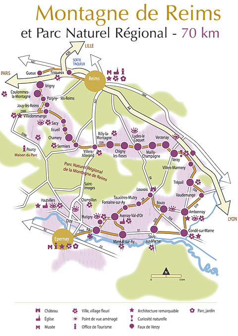 Champagneweekend rond reims tips by dailybits for Plan epernay