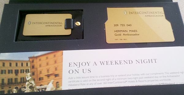 intercontinental Ambassador package