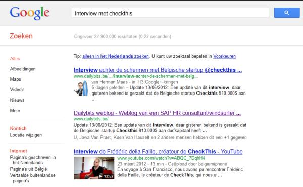 Authorrank google.be