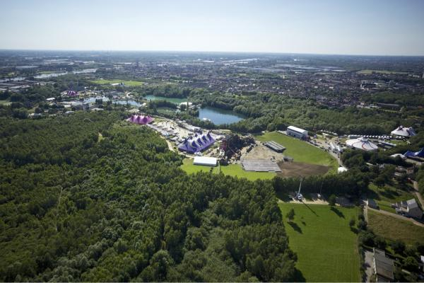 tomorrowland luchtfoto 2012