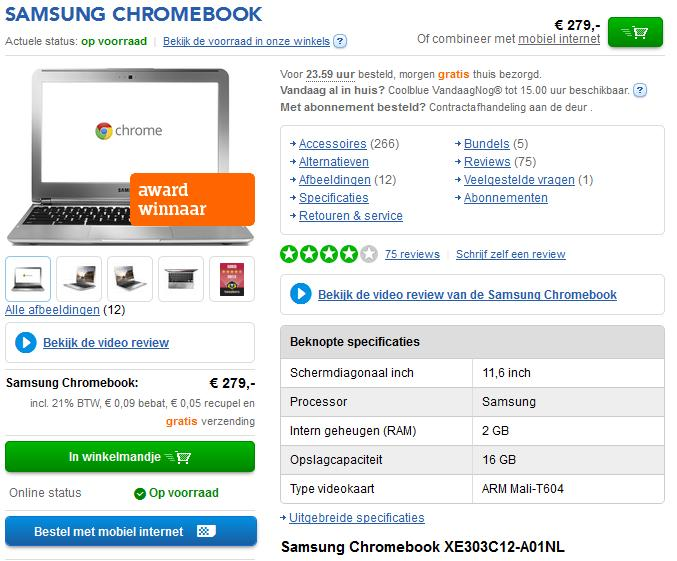 chromebook coolblue