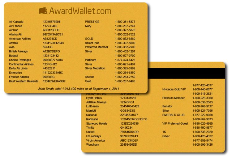 awardwallet one card