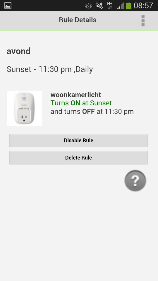 wemo switch android app rules