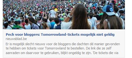 Facebook debug tool tomorrowland