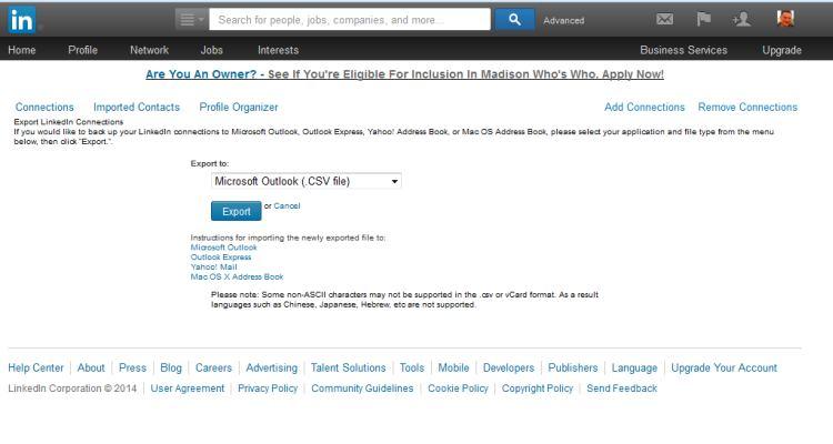 linkedin archief