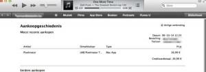 iTunes aankoopgeschiedenis