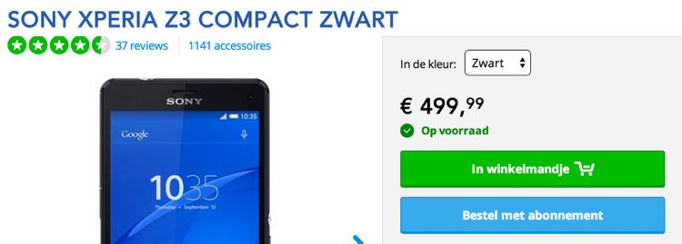 Sony_Xperia_Z3_Compact_Zwart_-_PDAshop_be
