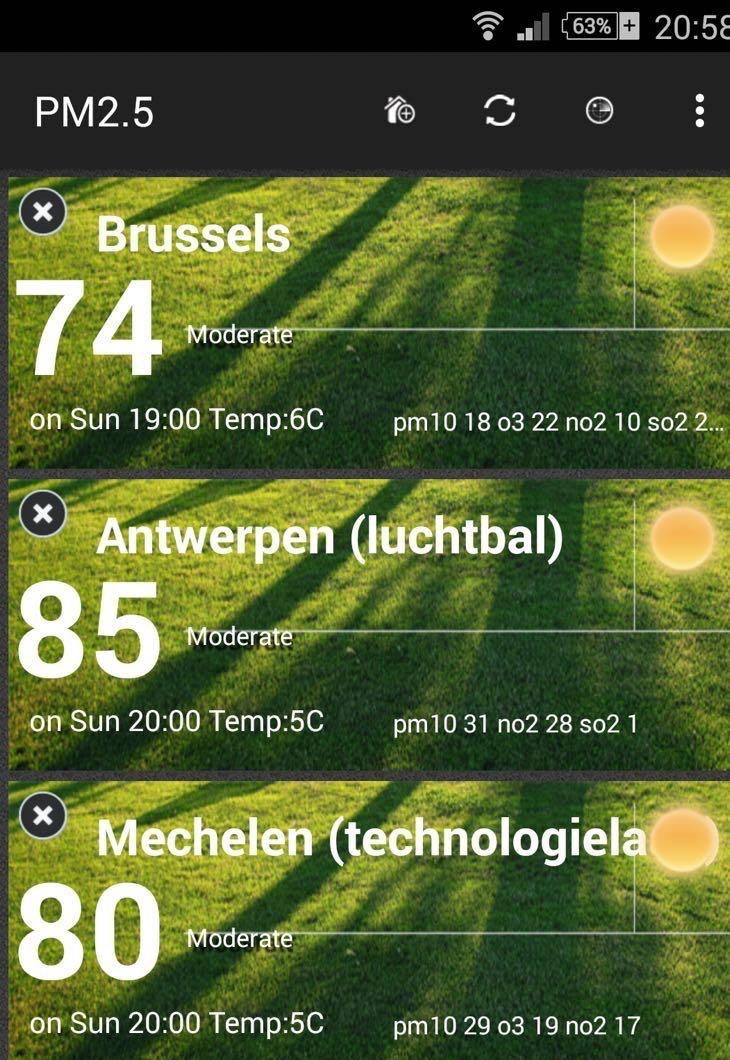 luchtvervuiling app smartphone