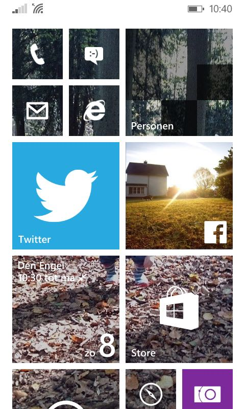 windows phone homescreen