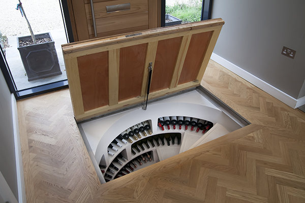 White-Spiral-Cellar-with-Recessed-Trap-Door-for-Timber-8