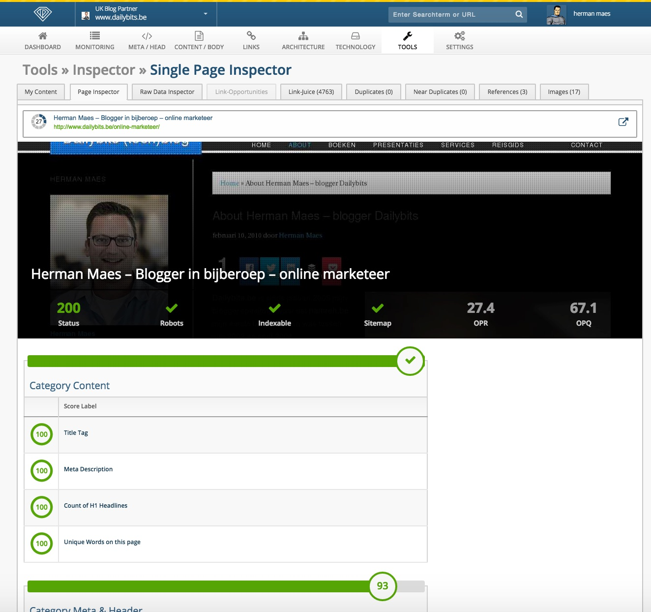 onpageorg page inspector review