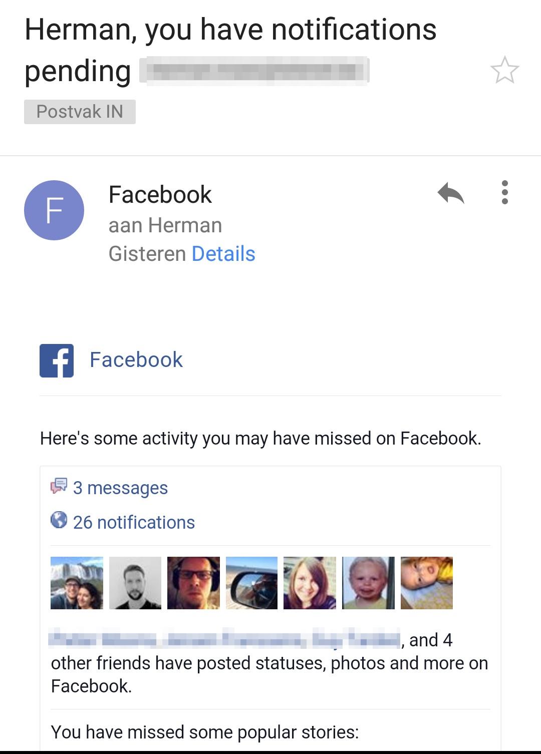 FB notificaties