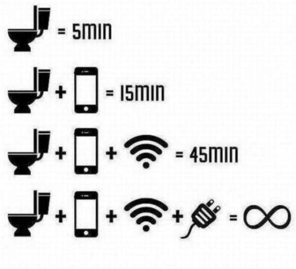 wifi toilet cartoon