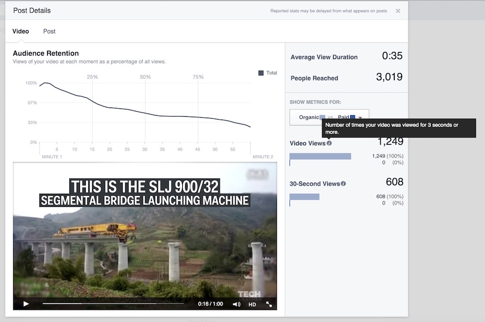 facebook video stats