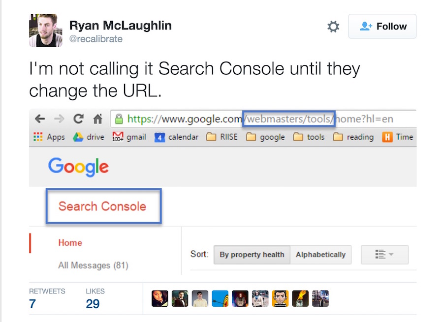 search console new name