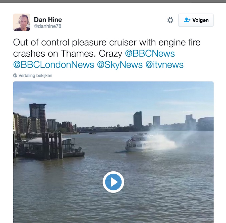 dan_hine_op_twitter___out_of_control_pleasure_cruiser_with_engine_fire_crashes_on_thames__crazy__bbcnews__bbclondonnews__skynews__itvnews_https___t_co_ymi0a1awfb_