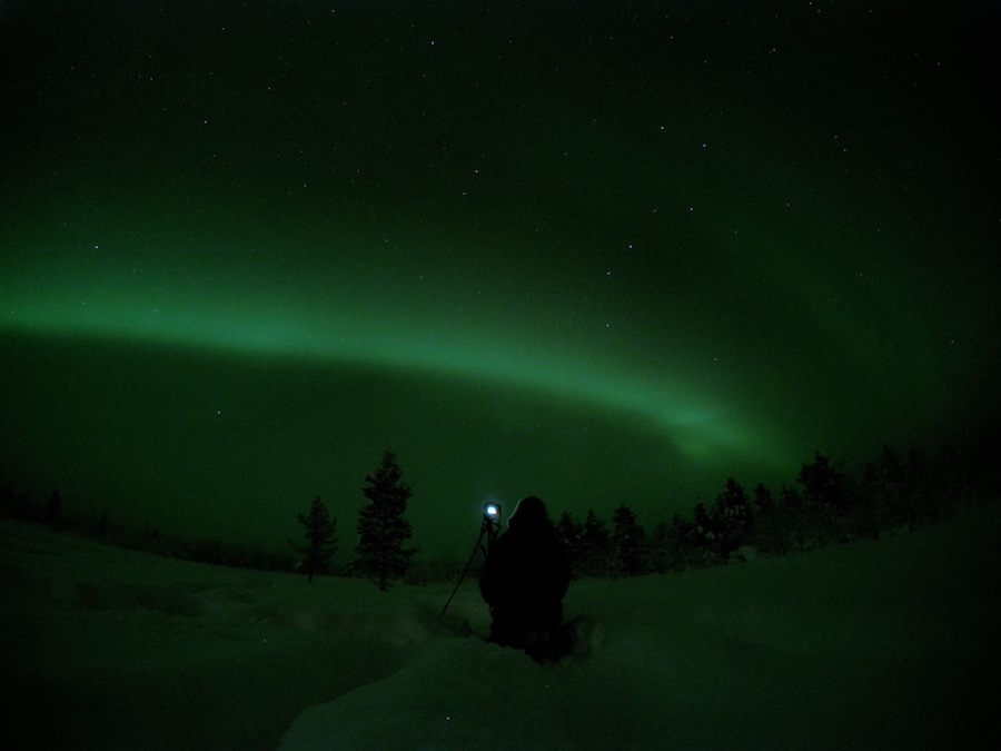 reisverhaal lapland aurora borealis
