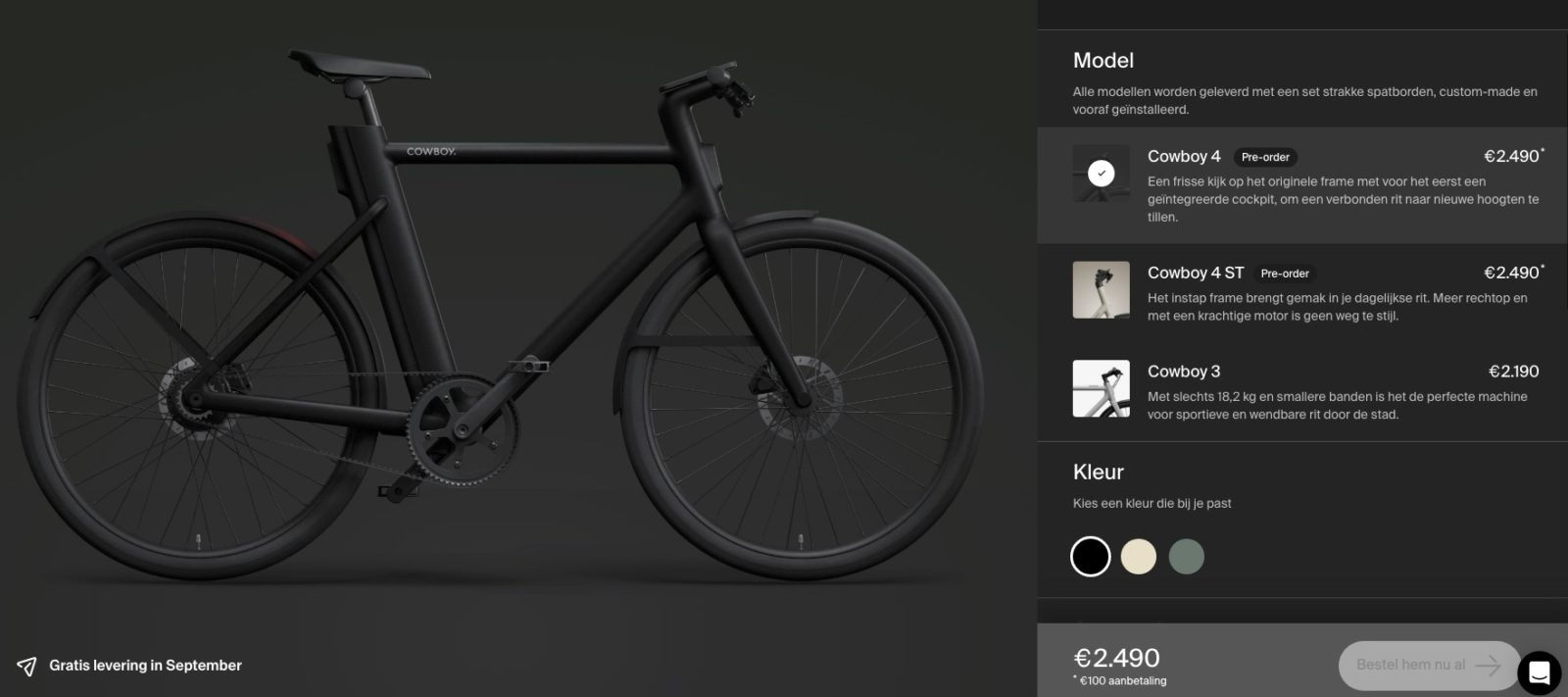 cowboy V4 ebike elektrische fiets